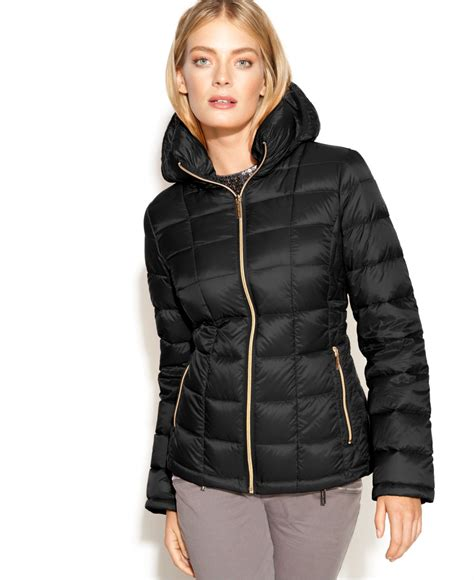 Lyst - Michael kors Michael Hooded Quilted Down Packable