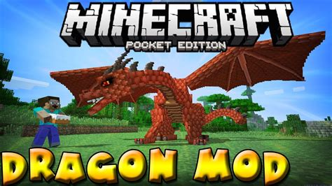 DRAGON MOD in MCPE!!! - 3 rideable dragons - Minecraft PE